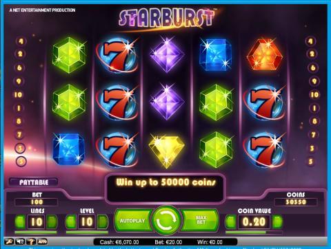Won €33,819 while playing Starburst at Vera&John