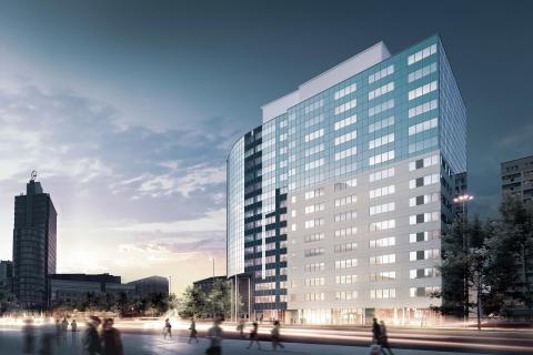 Skanska säljer kontorsfastigheten Atrium 1 i Warszawa, Polen, för cirka 808 miljoner kronor
