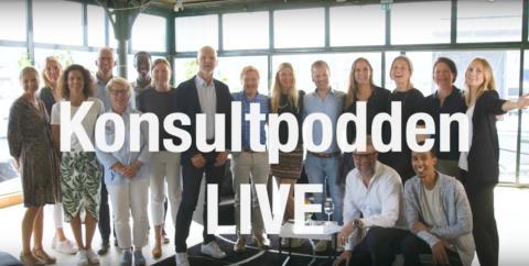 Konsultpodden LIVE, ett avsnitt för alla i konsultbranschen. Titta eller lyssna!