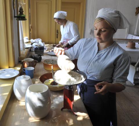 Gang i køkkenet på Frilandsmuseet