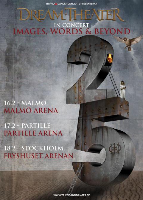 Dream Theater till Sverige i februari