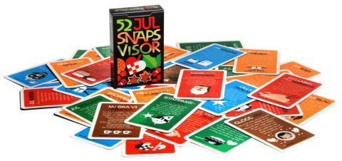 Julsnapslekar, en lek på kort