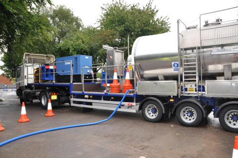 NSVA testar ny metod för renspolning av vattenledningar med is i Billesholm