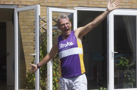Eastleigh stroke survivor completes Great South Run for the Stroke Association