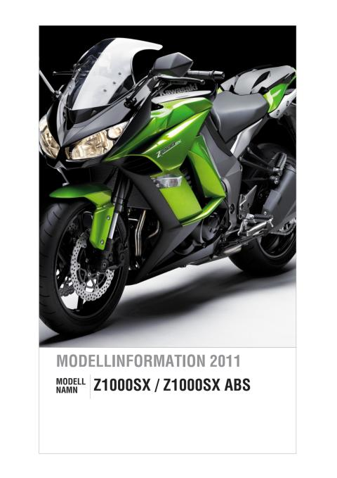 Modellinformation Kawaski Z1000SX