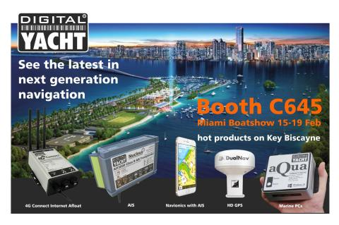 "Digital Yacht at the Miami Show - Booth C645 with ""must have"" new products..."