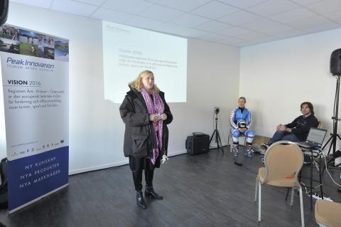Handelsministern på Nationellt Vintersportcentrum Åre