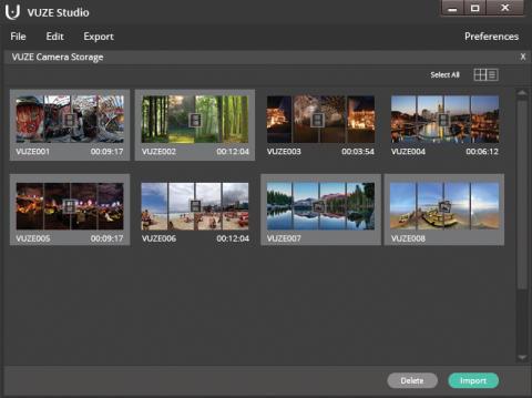 VUZE STUDIO Desktop app kamera