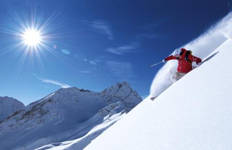Rekordbra förhållanden i österrikiska Alperna