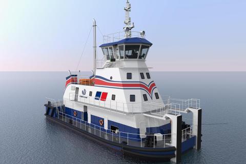 Rolls-Royce entwickelt erstes Flachwasser-Schubschiff mit LNG-Antrieb