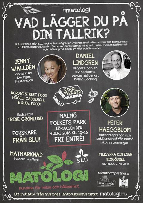 Vad lägger du på din tallrik?  – kockar möter forskare från SLU på matfestival i Malmö
