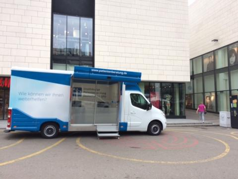 Beratungsmobil der Unabhängigen Patientenberatung kommt am 16. Februar nach Waiblingen.