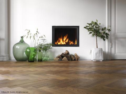 Wood Floor Makeover