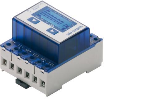 3-fas energimätare med kommunikationsgränssnitt