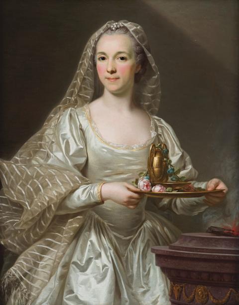 Alexander Roslin, Porträtt av Mlle Bourgevin de Linas