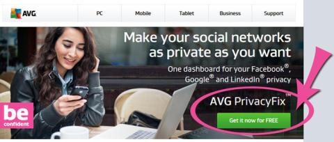 Skydda ditt privatliv på Facebook, LinkedIn & Google med AVG PrivacyFix