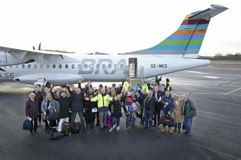 80-årsfirande Bromma Stockholm Airport slår alla tiders passagerarrekord