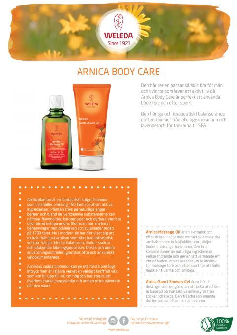 Samlingsblad Arnica Body Care