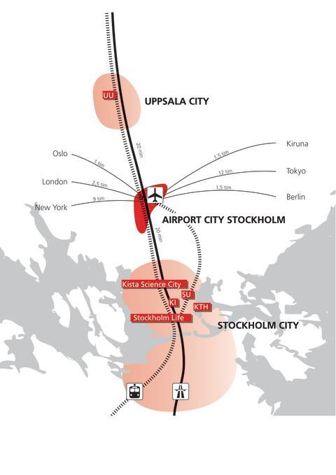 Airport City Stockholm - översiktskarta regionen