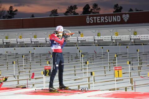 Lars Helge på dagens trening i Østersund
