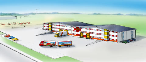 New spare part building