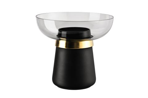 R_Collana_Black-New Gold_Vase 22 cm_grey
