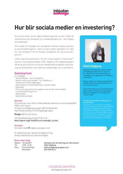 Hur blir sociala medier en investering