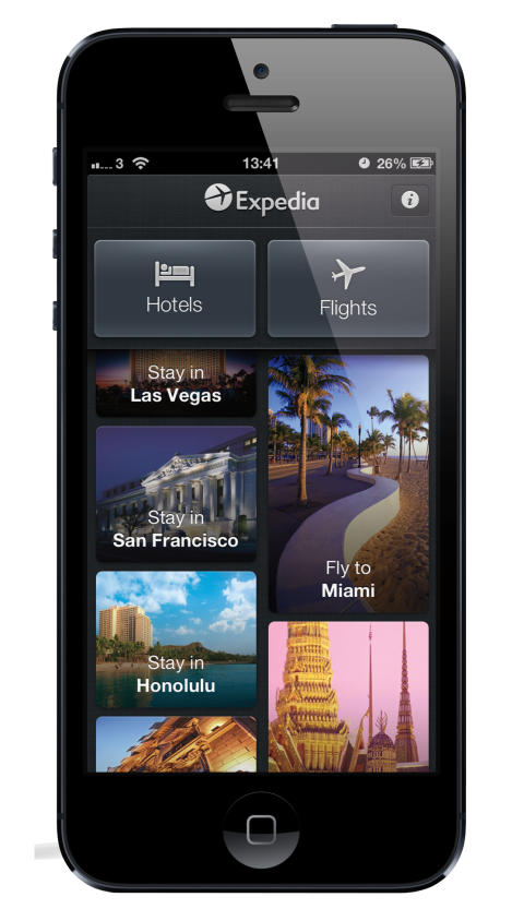 Take a shortcut to your next vacation. Get the Expedia App and book on the go! Get the Expedia App and book on the go! Save up to $ when you book your hotel and flight together! Learn moreabout the Expedia travel package. Get the app for iOS or Android on your smartphone or tablet.