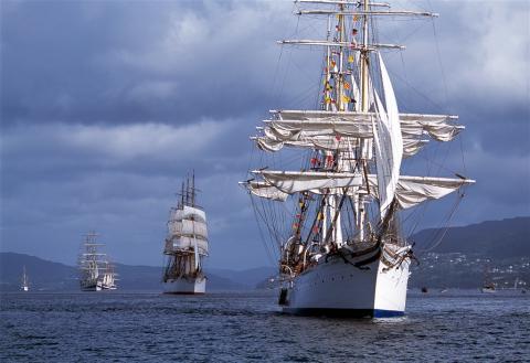 The Tall Ships Races seglar mot Bergen och Fredrikstad