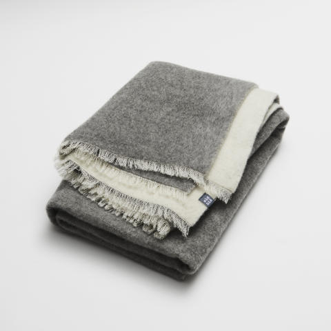 double woven wool throw