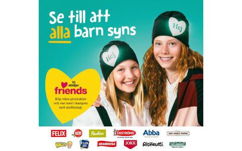 Orkla och Friends i ny kampanj om att få svenska skolbarn att synas bättre