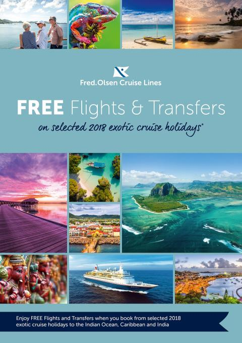 Fred. Olsen brings exotic adventures in the Indian Ocean, Caribbean and India 'closer' with free flights and transfers