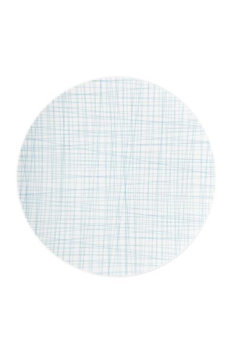 R_Mesh_Line Aqua_Plate 33 cm flat