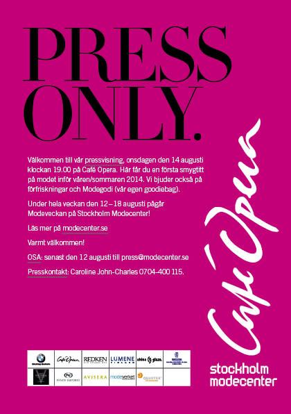 Välkommen till vår pressvisning på Café Opera
