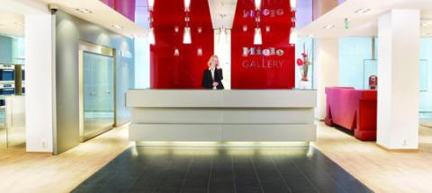 Modevisning på Miele Gallery i Solna på lördag