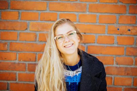 Marina Osk, masterstudent i jazz på Kungl. Musikhögskolan (KMH), som medverkar i jazzfestivalen New Sound Made 2019. Foto: Kevin Arellano.