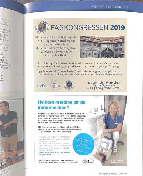 Elin Langeng behandlar i Lunula lasern på sin klinik i Trondheim