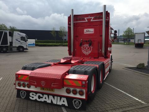 Ny Scania R 580 til Sejer og Sønnichsen A/S - opbygning bag førerhuset