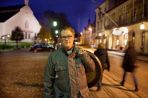 Stefan Jansson på Rådhustorget i Lindesberg_3