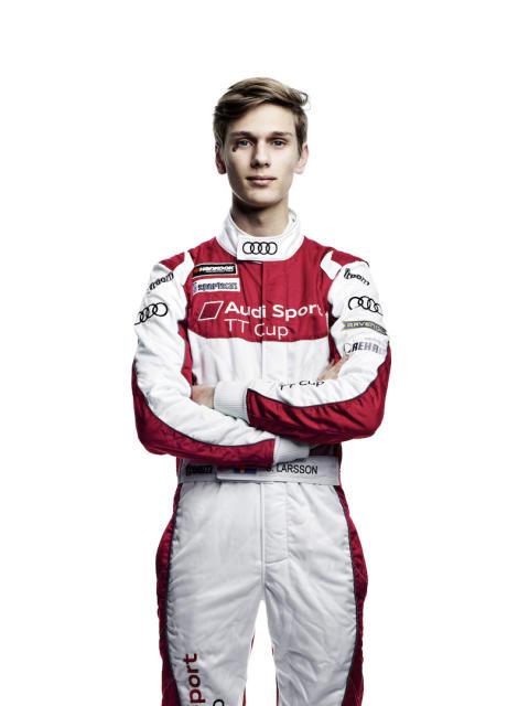 Simon Larsson Audi Sport TT Cup race car driver 2016