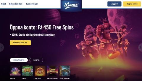 Igames nya design och välkomsterbjudande