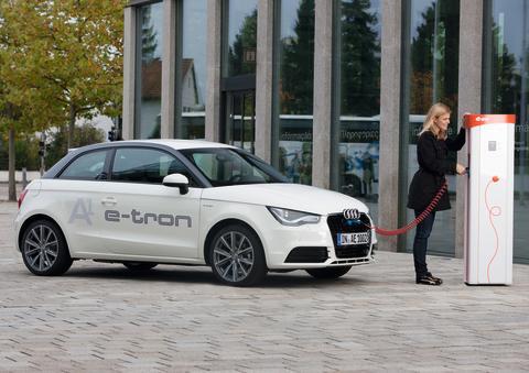 Pilotprojekt med Audi A1 e-tron startar upp i München