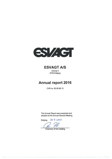 ESVAGT Annual Report 2016
