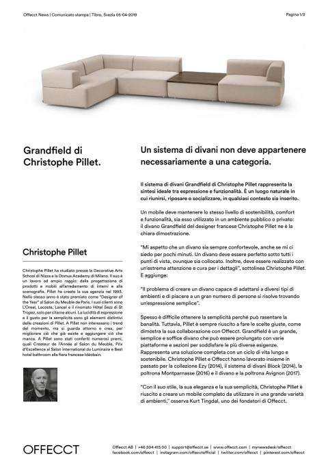 Offecct Press release Grandfield by Christophe Pillet_IT