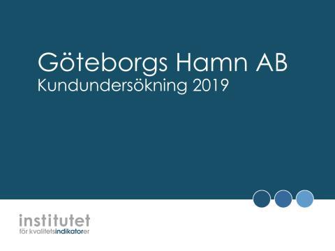 Kundundersökning - Göteborgs hamn