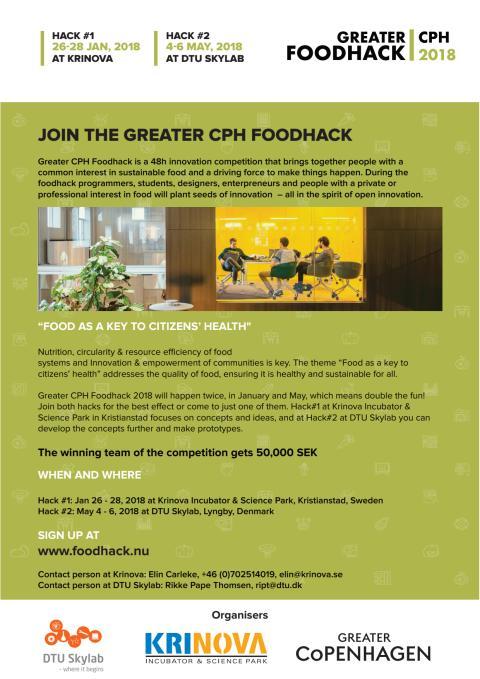 Inbjudan Greater CPH Food hack
