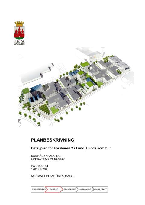Planbeskrivning - detaljplan för nya kontorsbyggnader
