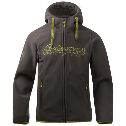 Bryggen Youth Jacket - Solid Dark Grey/Citrus