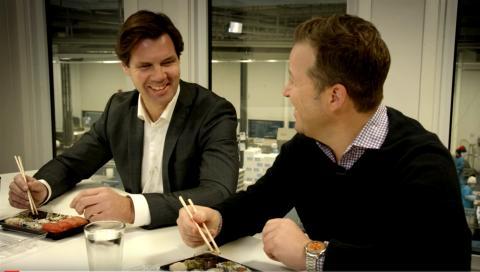 Vi produserer mellom 12 og 15 millioner sushibiter midt i tjukkeste Oslo