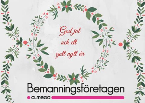 God jul och gott nytt år önskar Bemanningsföretagen!
